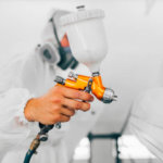 Hazardous Zones Lighting Spray Painting a Car