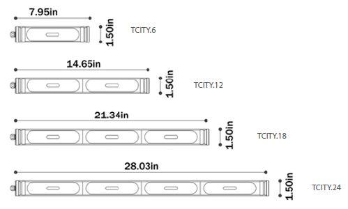 t-city dimensions